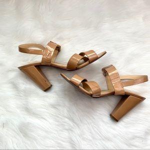 J Crew Ankle Sydney Patent Heels Size 9
